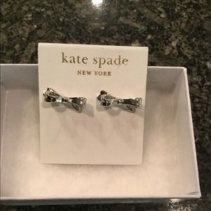 Kate Spade Silver Bow Earrings